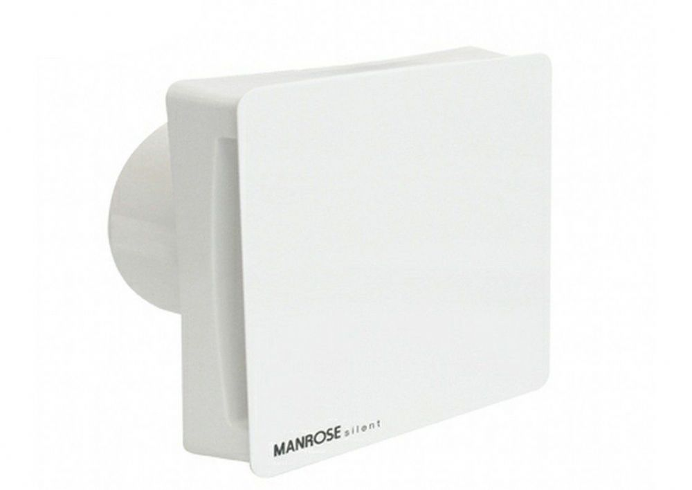 "Manrose Silent Conceal 100mm/4"" Bathroom Fan CSF100 Range - Standard, Timer and Humidity"